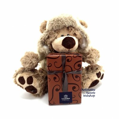 Leonidas 250g chocolats et Ours en peluche Dommel (20cm)