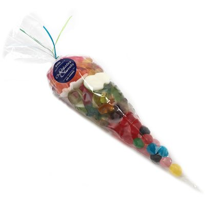 Cone bag with oiled candy 300g
