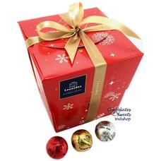 Leonidas Kubus Kerst (XL) 60 feestballetjes
