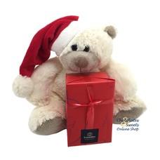 Kerstbeer (20cm) met 250g feestballetjes