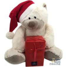 Ours de Noël (30cm) avec 500g Boules de fête