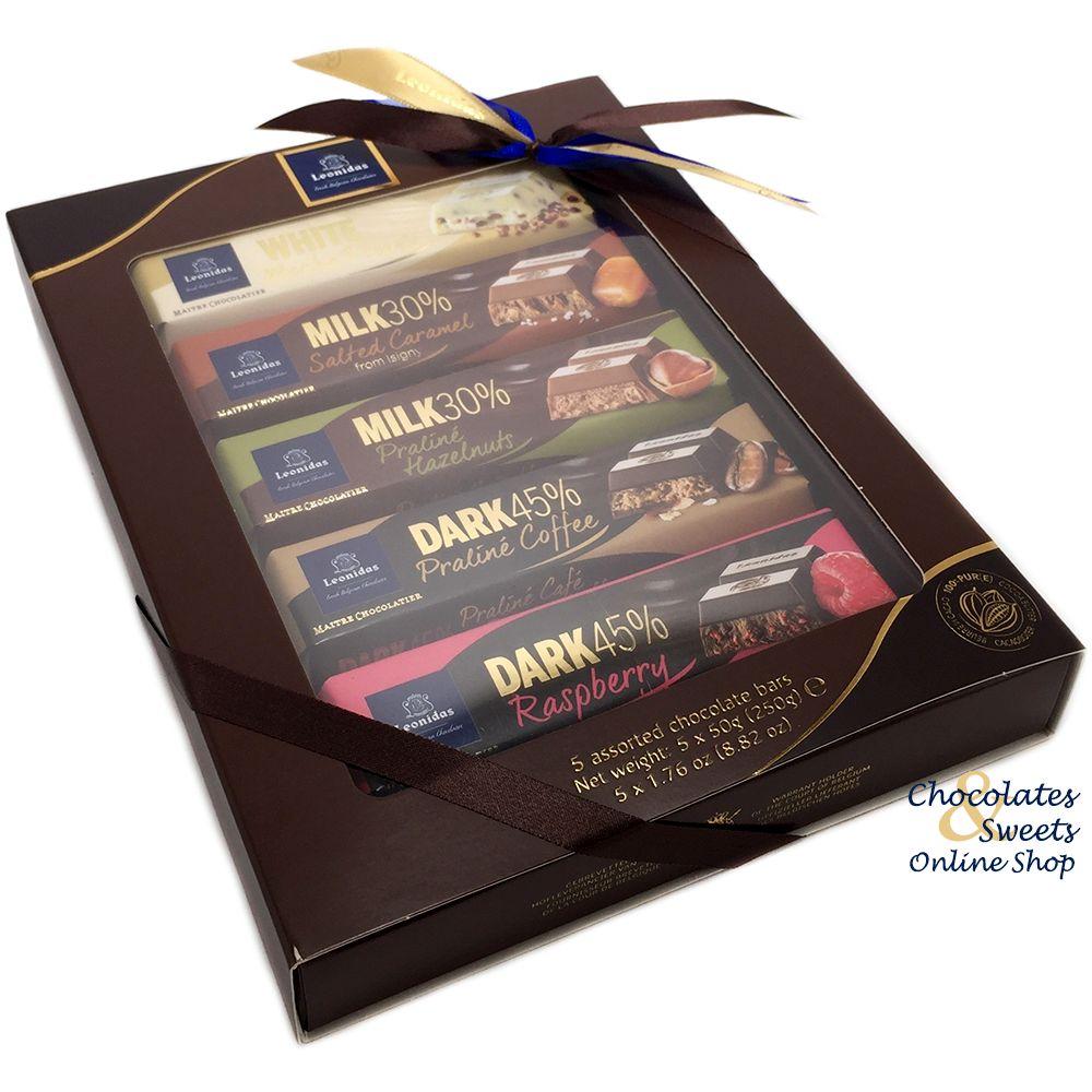 Leonidas Chocolate Bars 5-Pack - Leonidas Online Shop Gistel ...