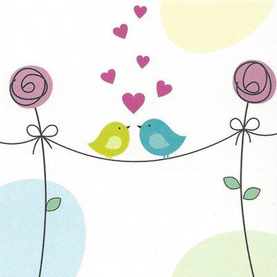 """Carte de voeux """"l'Amour"""""""