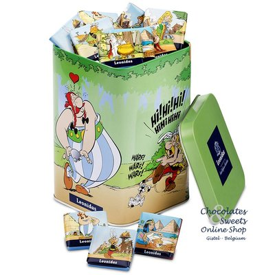 Leonidas Box Astérix (green) with 400g Napolitains