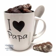 Weiße tasse 'I love Papa' Meeresfrüchte 230g