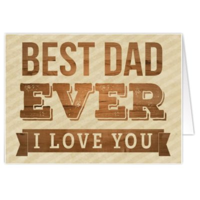 Carte de voeux 'Best Dad Ever'