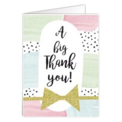 Grußkarte 'A big thank you'