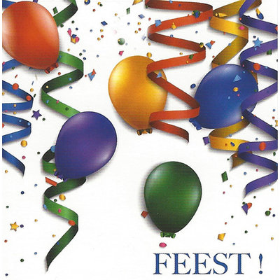 Carte de voeux 'Feest!'