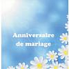 Grußkarte 'Anniversaire de Mariage'