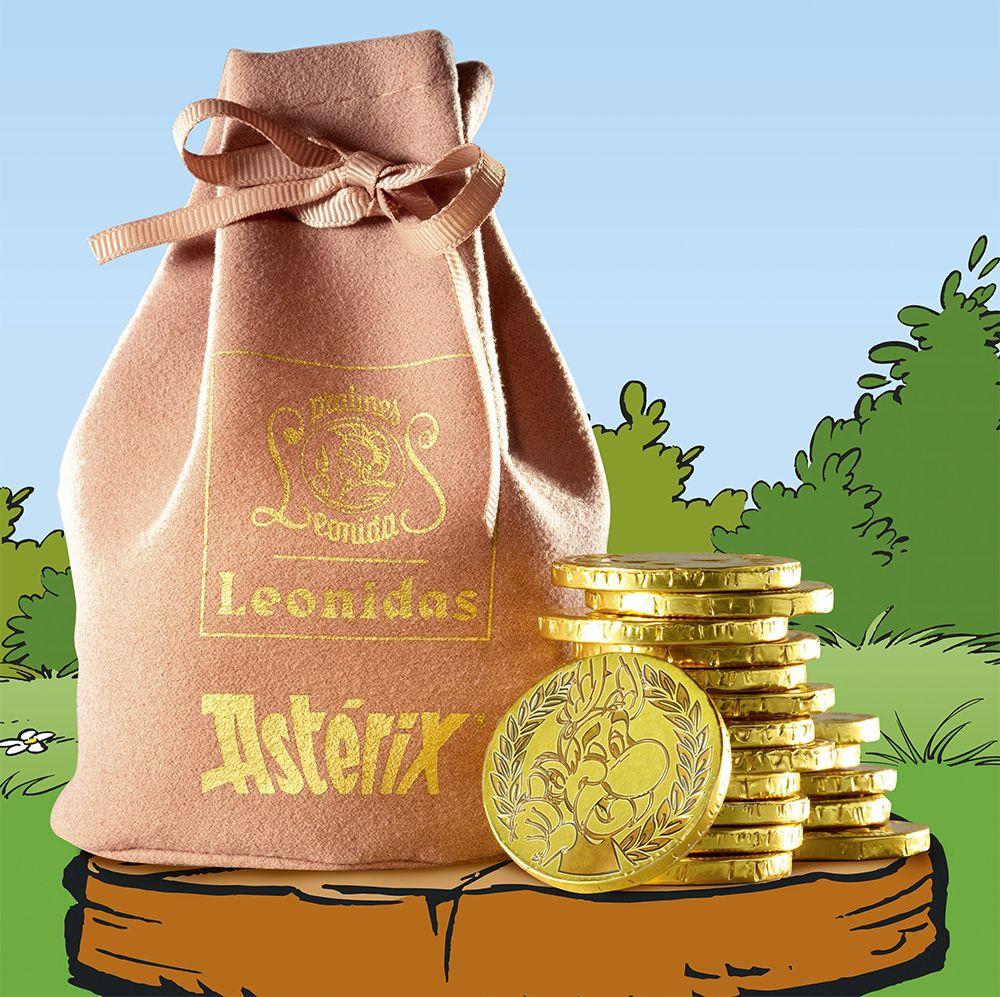 Leonidas Asterix-Pouch with Chocolate Coins - Leonidas Online Shop ...