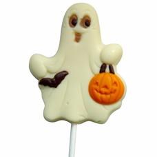 Leonidas Lollipop Spook wit