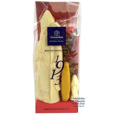 Leonidas St-Nicholas bag (M) white + Speculaas