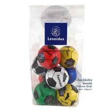 Leonidas Sachet - 8 Petits ballons de foot en chocolat