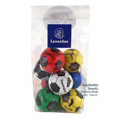 Leonidas Petits Sachet avec 8 petits ballons de foot en chocolat