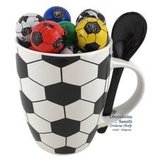 Mok 'Voetbal' 20 Chocolade Voetballetjes