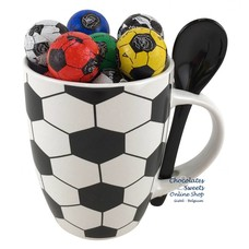 Tasse 'le Foot' 20 Petits ballons de foot en chocolat