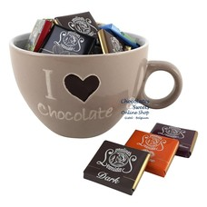 Koffiemok 'I love Chocolate' Napolitains 250g