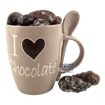 Tasse 'I love chocolate' avec 230g de Fruits de mer