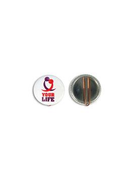 37mm Button met clip vanaf
