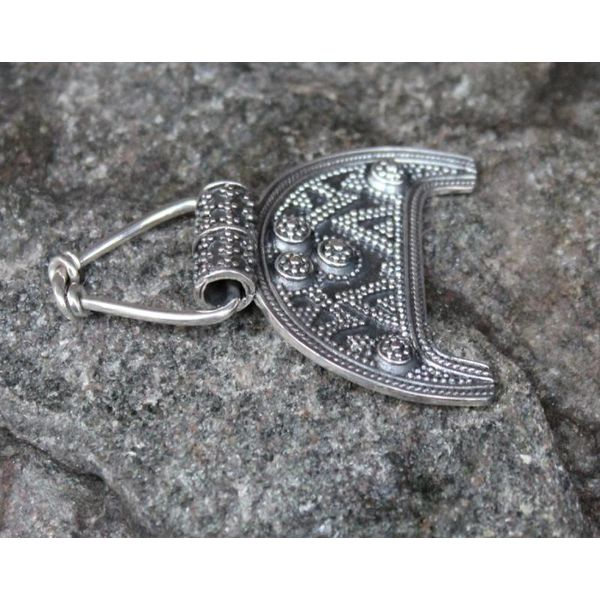 Moravian crescent pendant