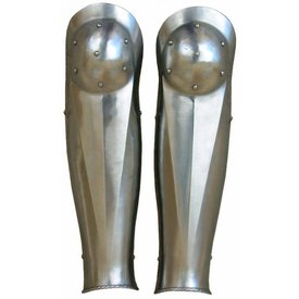 Late medieval greaves