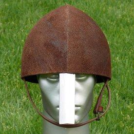 Covered Norman helmet