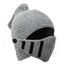 Knitted knight helmet