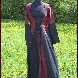 Dress Morrighan (burgundy-black)