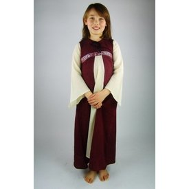 Girl's dress Ariane, white-red