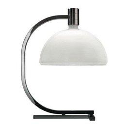 Nemo Table lamp - AS1C - 50x40 - Chrome, matt white glass