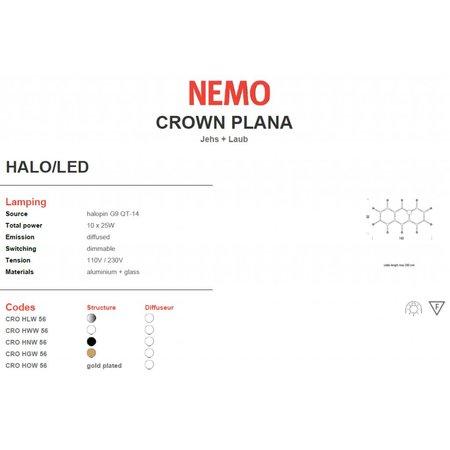 Nemo Hanging lamp - Crown Plana - 142x82 - Polished metal