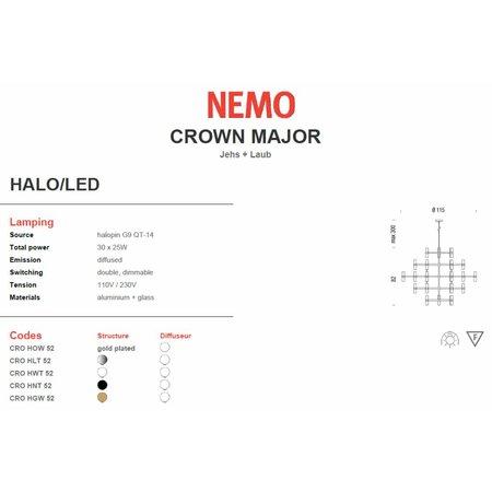 Nemo Hanging lamp - Crown Major - Polished metal
