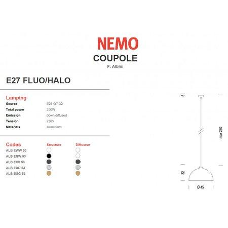 Nemo Hanging Lamp - Coupole - Gunmetal Gray