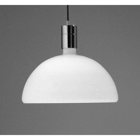 Nemo Hanging Lamp - AM4C - Chrome, matt white glass
