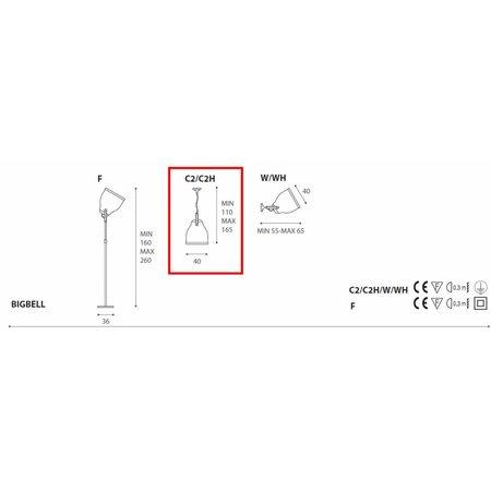 Antonangeli Hanging Lamp - Big Bell - White