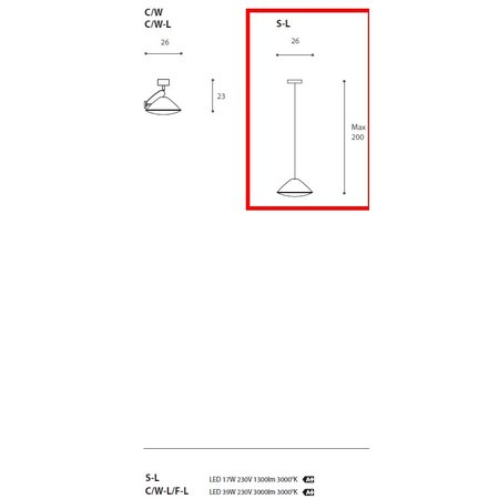 Antonangeli LED Hanging Lamp - Armonica - Chrome