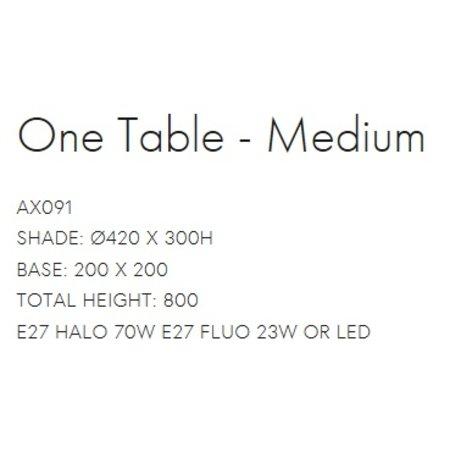 Axis71 Table Lamp - One Table Medium - Gray