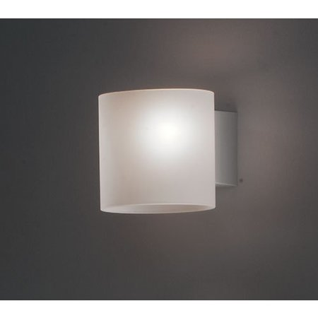 Martinelli Luce Wall Lamp - Glass Tube - White - 10 cm