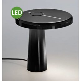 Martinelli Luce LED Table Lamp HOOP - ∅ 21,5 H 21 - BLACK