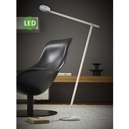 Rotaliana LED Floor Lamp - String F1 - 10.5 - Mat white with orange cord