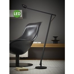 Rotaliana LED Floor Lamp - String F1 - 10.5 - Matt black with black cord