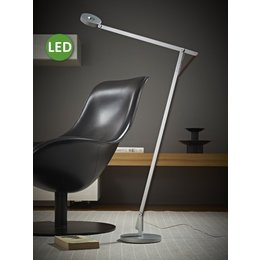 Rotaliana LED Floor Lamp - String F1 - Silver with black cord