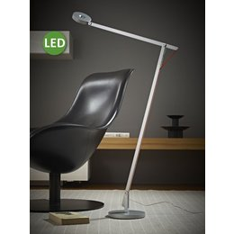 Rotaliana LED Floor Lamp - String F1 - Silver with orange cord