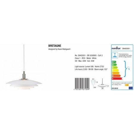 Nordlux Bretagne - Hanglamp - Wit