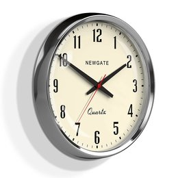 Newgate The Mechanic Clock - Chrome