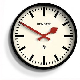 Newgate Luggage Wall Clock - Black
