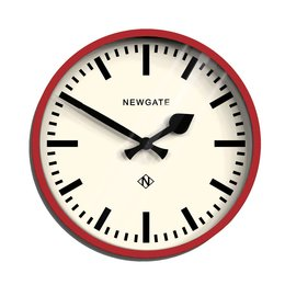 Newgate Luggage Wall Clock - Red