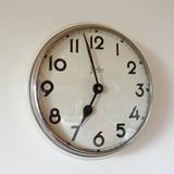 Vintage Palmtag - School Clock - Cream
