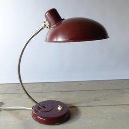 Vintage Helion Arnstadt bureaulamp - ROOD - Bakeliet