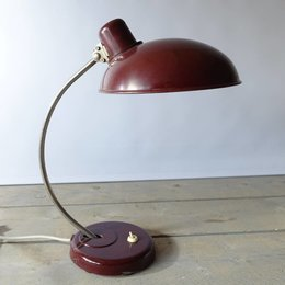 Vintage Helion Arnstadt desk lamp RED